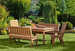 Wooden garden furniture PROWOOD made of solid wood ThermoWood®