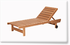 Wooden garden furniture PROWOOD – Lawn chair LE1 200
